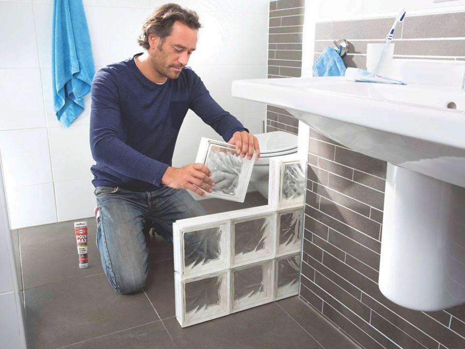 lipire caramizi decorative cu adezivul transparent poly max crystal