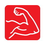 pictograma lipire puternica