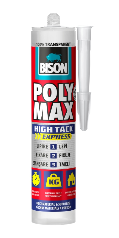 adeziv universal transparent poly max high tack cristal express